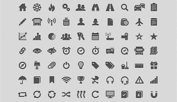 GLYPHICONS - library of precisely prepared monochromatic icons and symbols. title=