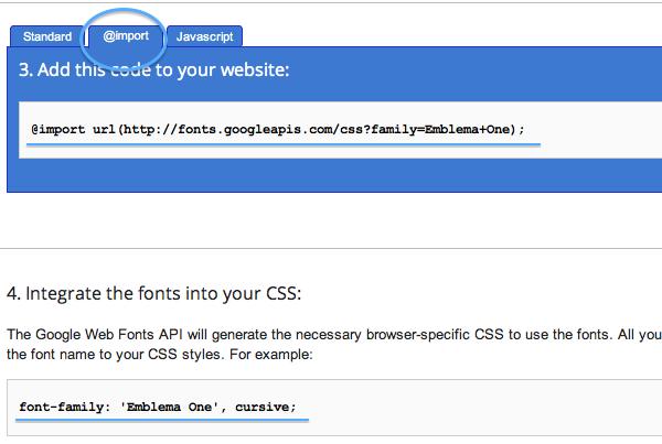"""@import""""のタブをクリックした画面"""