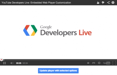 YouTube Player Demoページ